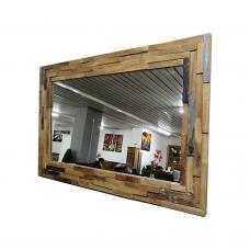 Old teak spiegel