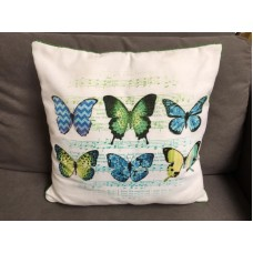Madison sierkussen green butterfly