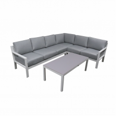 Loungehoek Dallas aluminium white