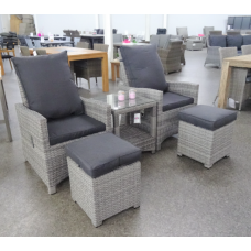 Finley dining loungeset verstelbaar mix grey