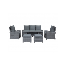 Loungeset Finley 5 seater verstelbaar incl.2 footrest