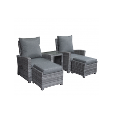 Finley loungeset verstelbaar mix grey