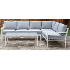 Loungehoek Dallas aluminium white