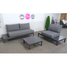Loungebank Seattle incl.fauteuil aluminium