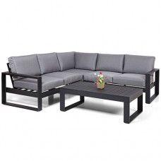 Loungehoek Miami aluminium black