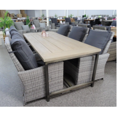 Diningset Industrieel Finley Flex mix grey