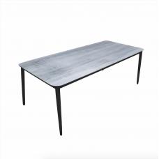 """Tuintafel aluminium wit/grijs blad """"205"""""""