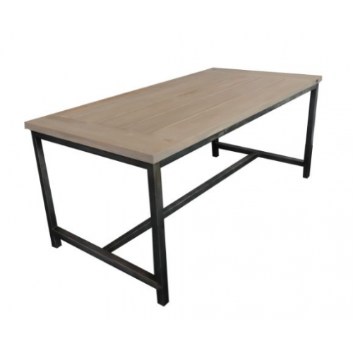 "Teak Tuintafel industrieel grey wash ""180"""