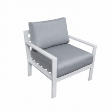 Lounge fauteuil Dallas aluminium white