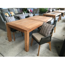 """Dining set Jakarta """"220""""  incl. 6 Tuinstoel Vancouver taupe"""