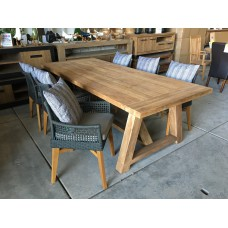 """Dining set Thor """"240""""  incl 6 Tuinstoel vancouver taupe"""