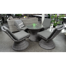 Diningset Miramar mix grey