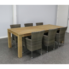 Diningset Atlanta Stapel kubu grey