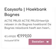 Hoekbank Bagnes